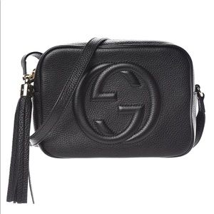 Gucci pebbled calfskin small SoHo Disco bag black.